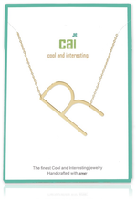 Load image into Gallery viewer, Gold Medium Sideways Initial Necklaces