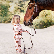 Load image into Gallery viewer, Milkbarn Horse Dress & Legging Set