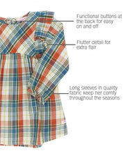 Load image into Gallery viewer, Miller Plaid Flutter Button Back Dress