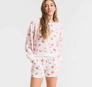 Kissed Crew Pullover Pajama Top