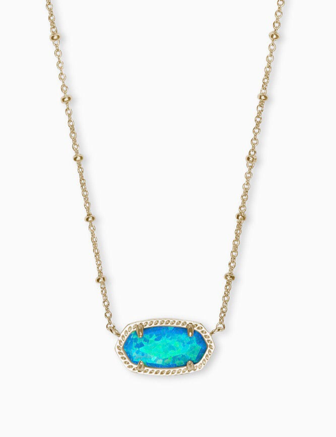 Elisa Satellite Gold Necklace-Turquoise Kyocera Opal