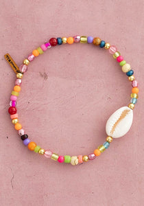 Beaded Charm Anklet With Charm