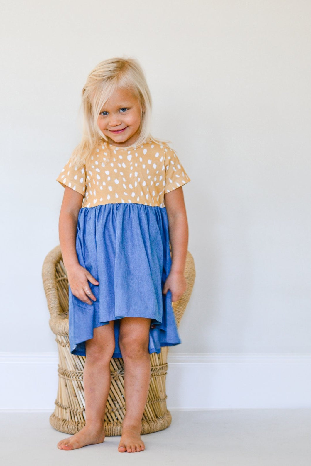Fawn Denim High Low Dress