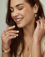 Load image into Gallery viewer, Harrison Rose Gold Drop Earrings-Rose Gold Drusy