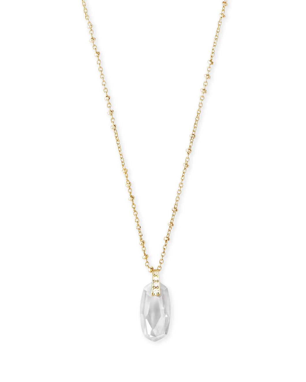 Camila Gold Pendant Necklace-Lustre Glass