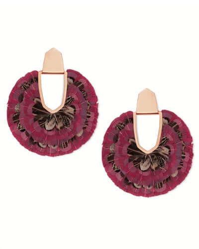 Diane Gold Feather Statement Earrings