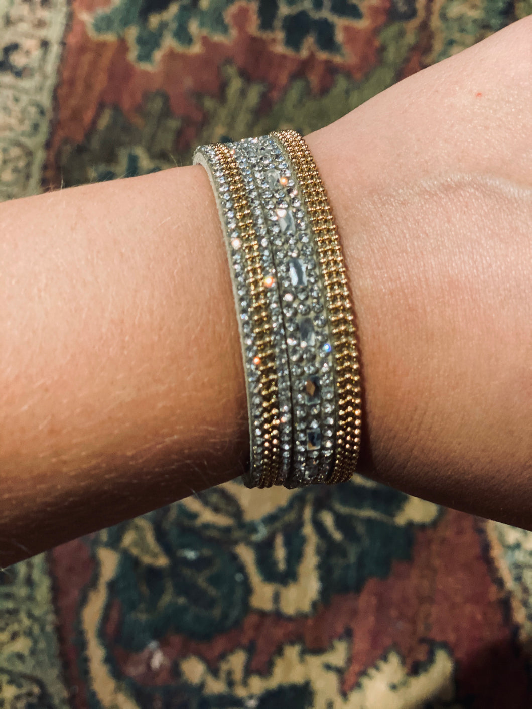 Gold & Crystal Magnetic Bracelet