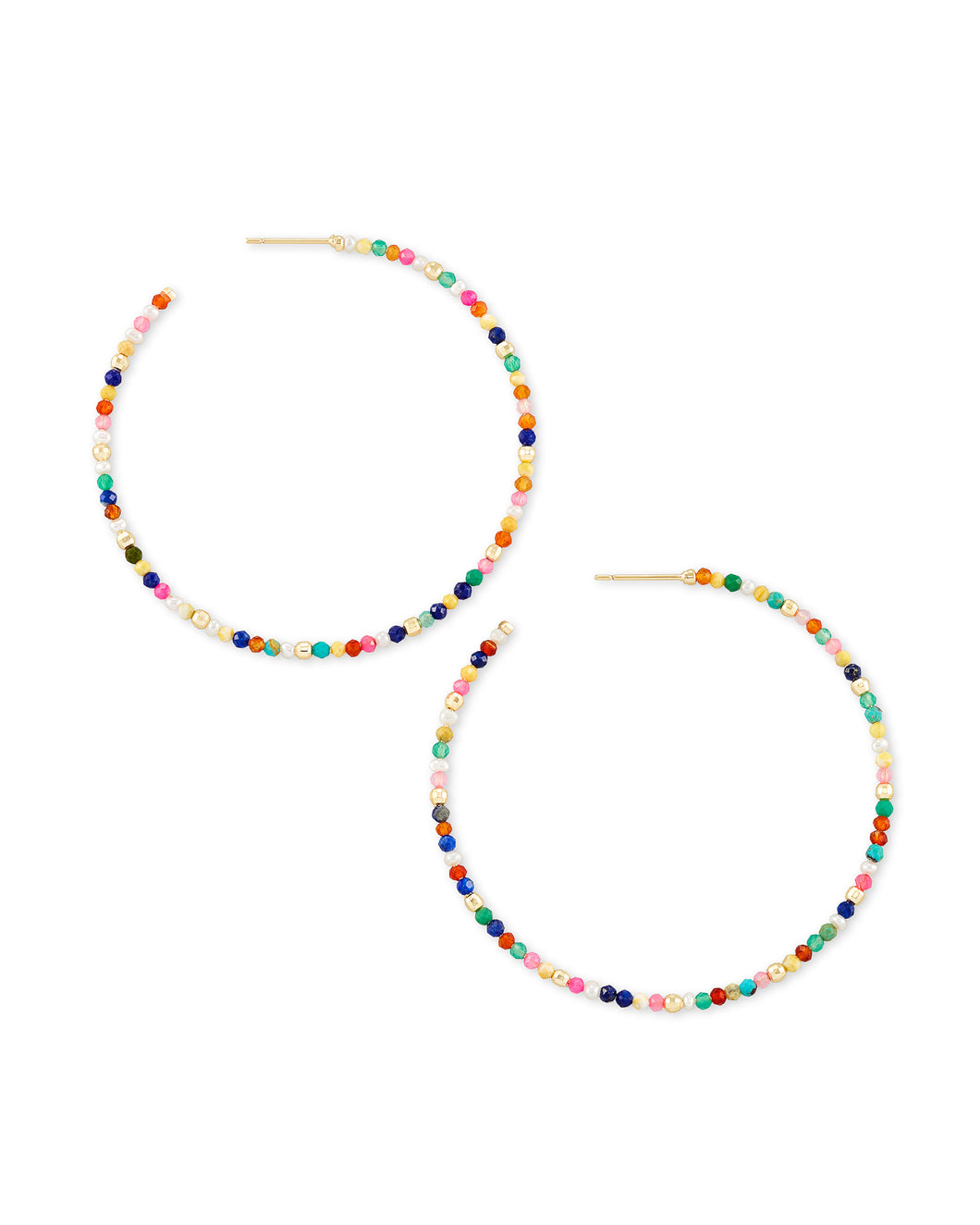Scarlet Gold Hoop Earrings- Multi Color