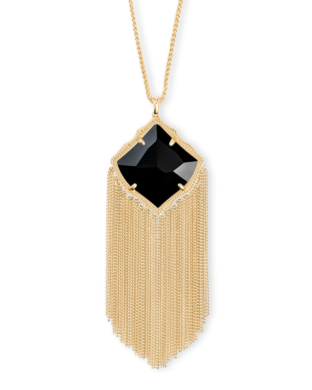 Kingston Gold Long Necklace-Black