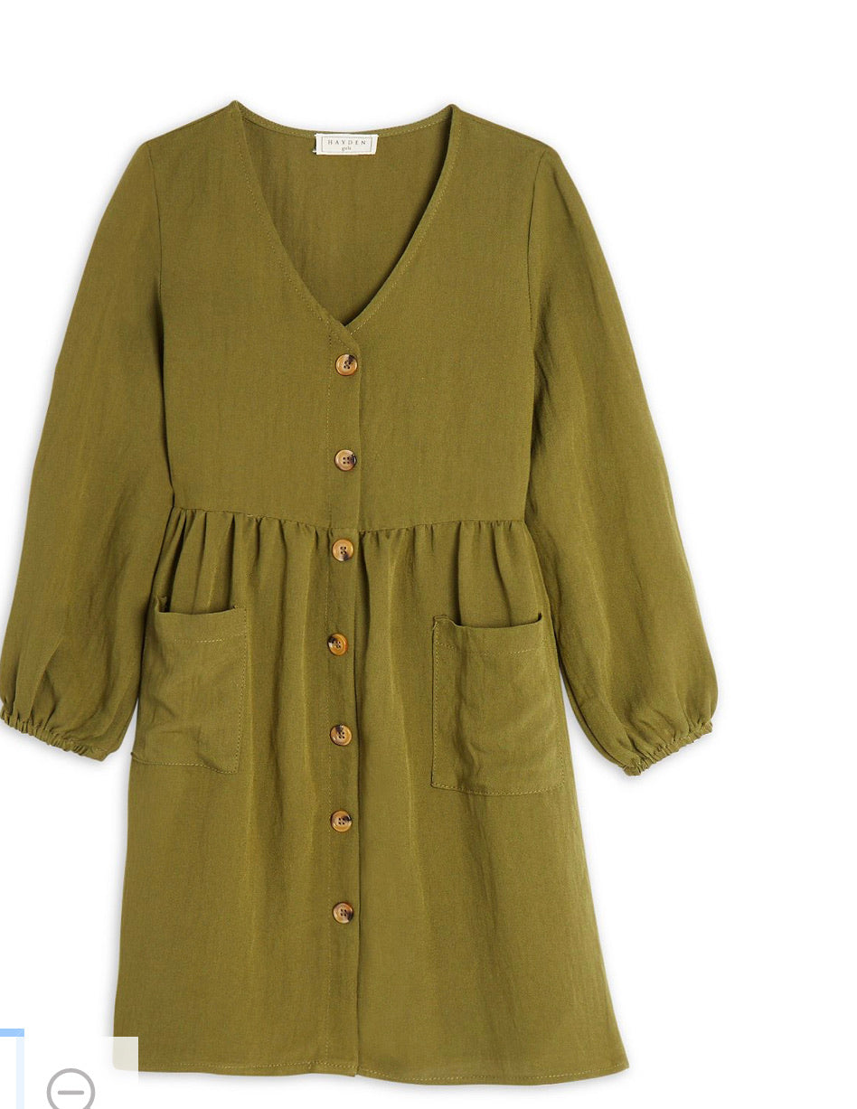 Olive Dress - Girls