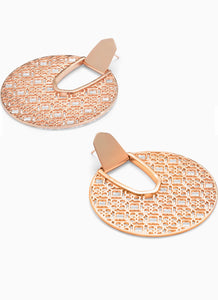 Diane Rose Gold Statement Earrings