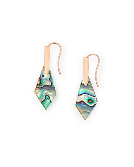 Gianna Rose Gold Drop Earrings-Abalone