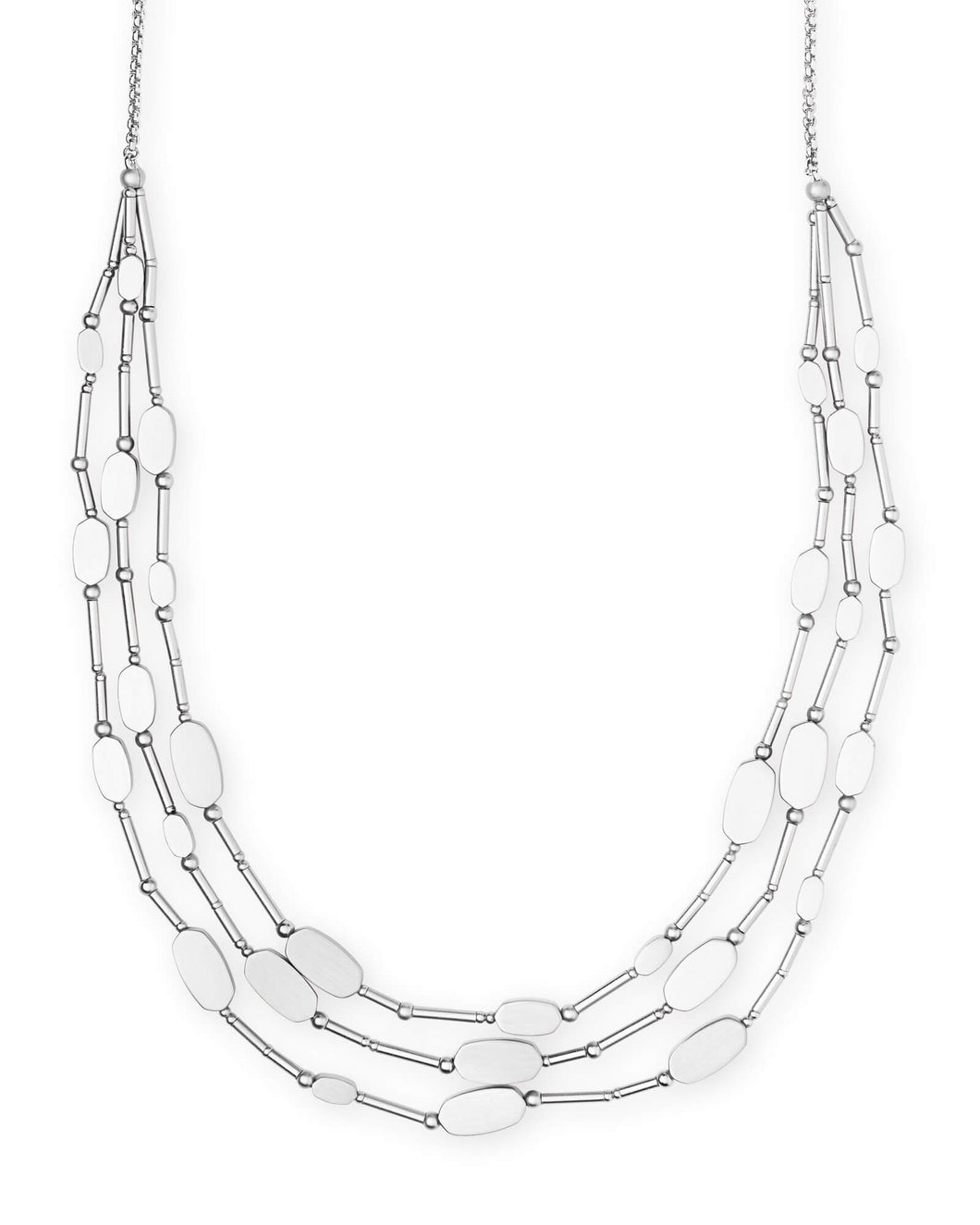 Channing Silver Multi Strand Necklace