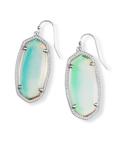Elle Drop Earrings-Dichroic Glass