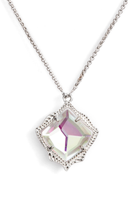 Kacey Pendant Necklace- Dichroic Glass