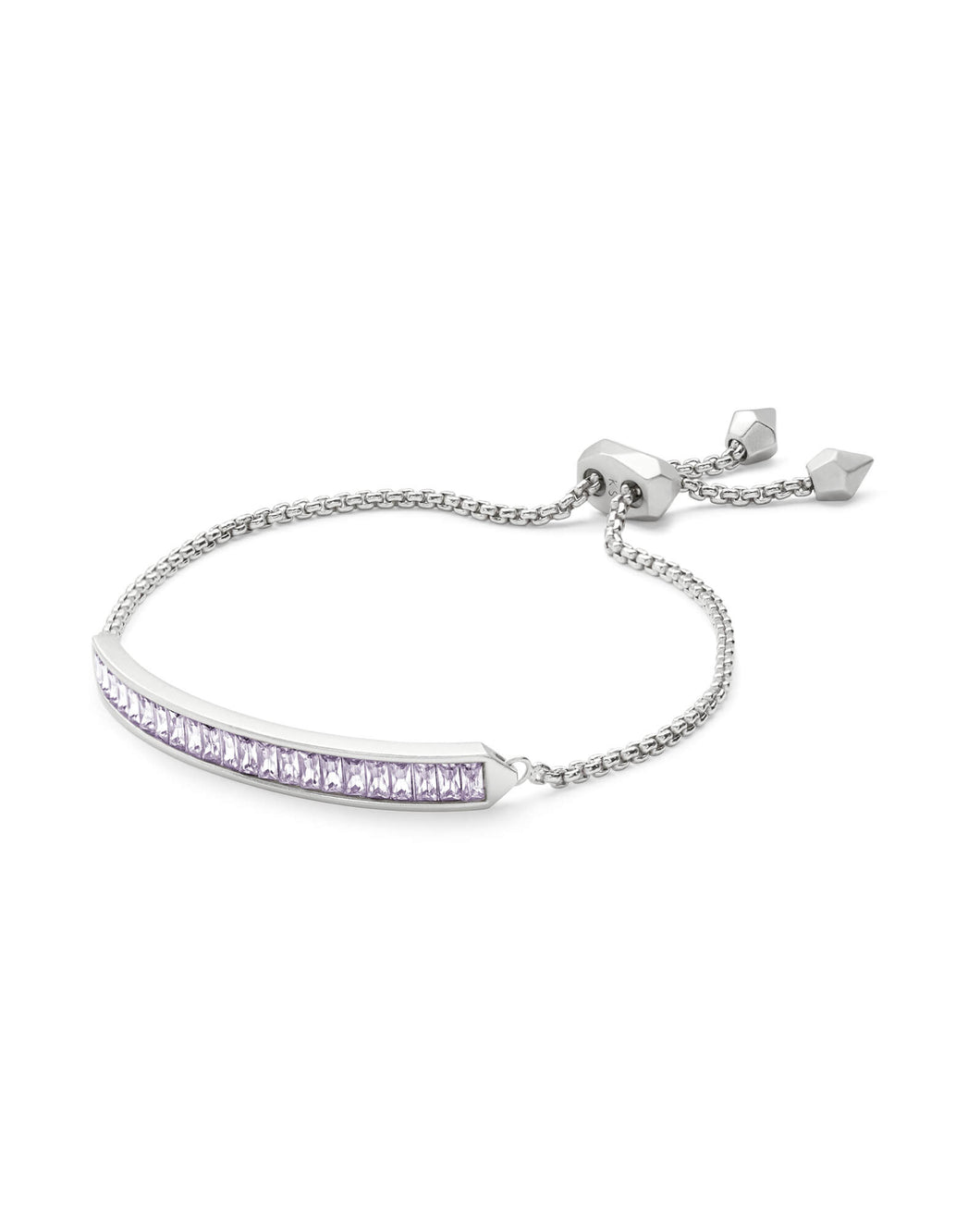 Jack Silver Adjustable Chain Bracelet-Lilac Mix