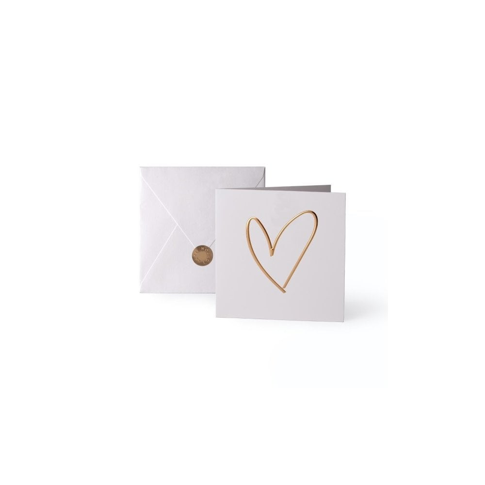 Foil Heart Greeting Card