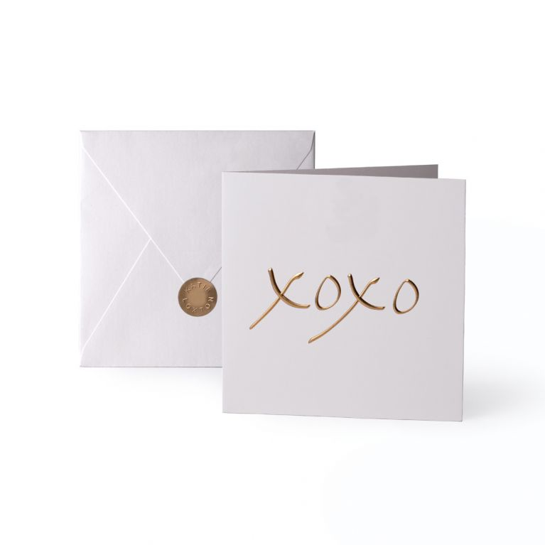 Foil XOXO Greeting Card