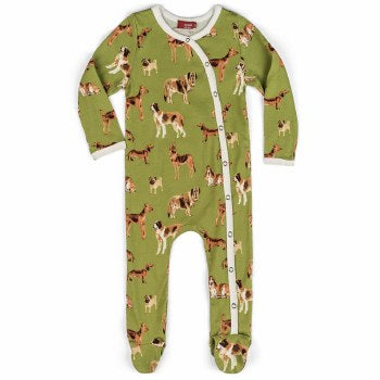 Milkbarn Organic Dog Footed Romper