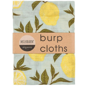 Milkbarn Burp Cloths Lemon