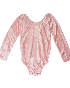 Time To Shine Leotard - Rose Gold