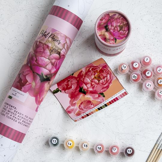 Petal Power-Paint By Numbers Kit