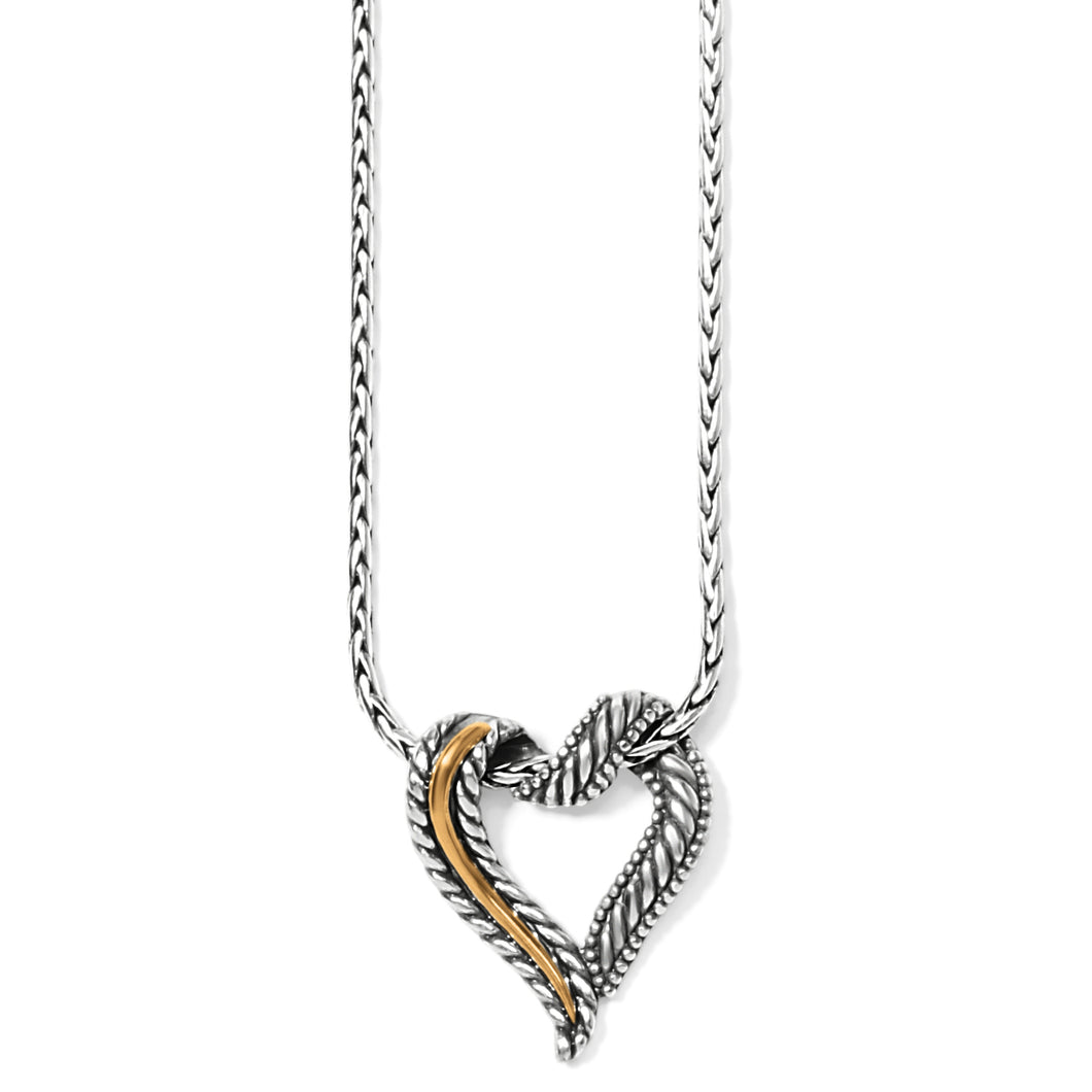 Callie 2-Tone Heart Necklace