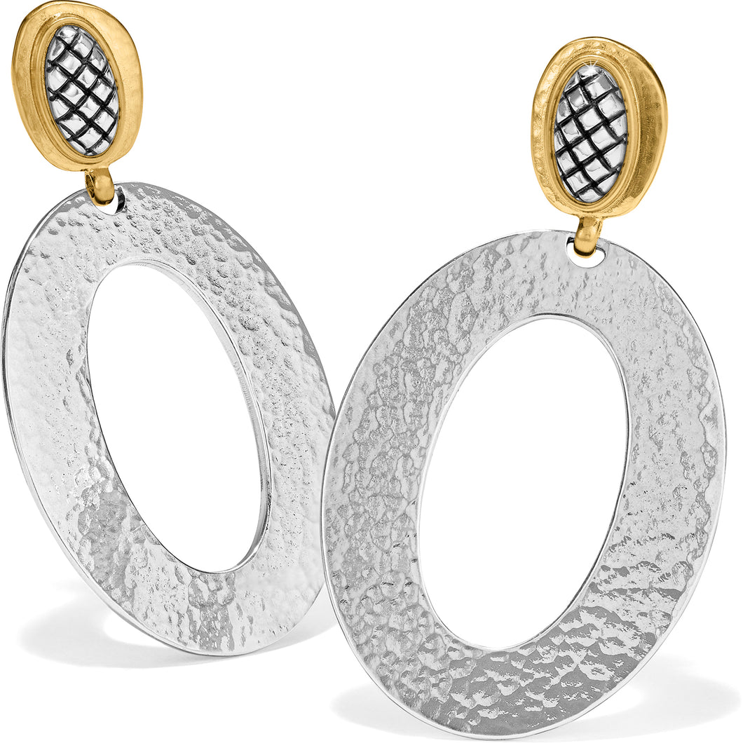 Ferrara Artisan Two Tone Drop Earrings