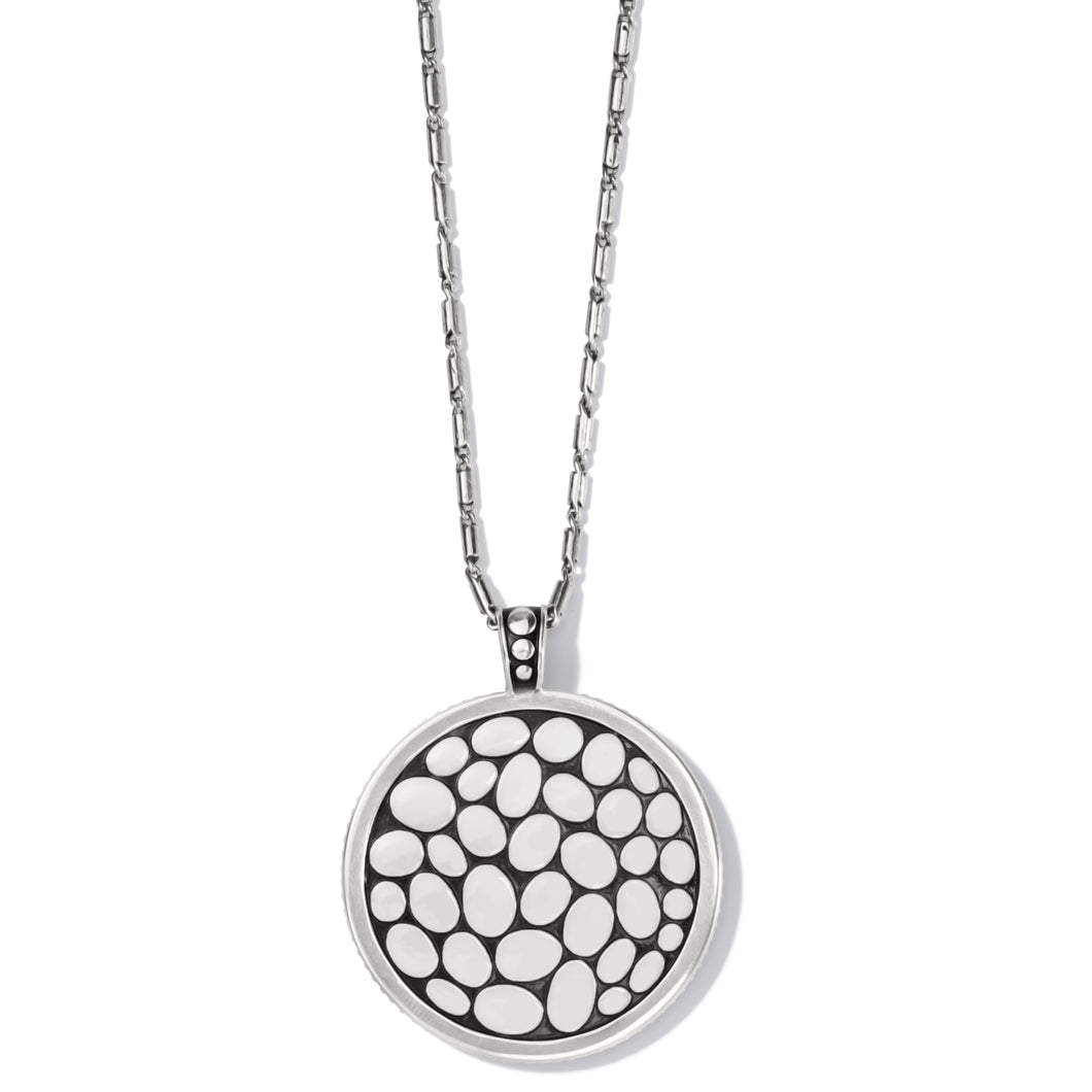 Pebble Round Convertible Reversible Necklace