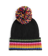 Load image into Gallery viewer, Ronen Black Multicolor Beanie