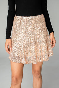 Reba Sequin Mini Skirt