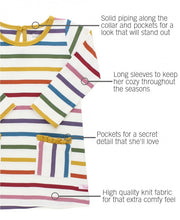 Load image into Gallery viewer, Harvest Rainbow Stripe Pocket Dress