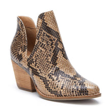 Load image into Gallery viewer, Trader Brown Snake Bootie