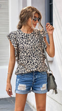Load image into Gallery viewer, Leopard Ruffle Crew-Neck
