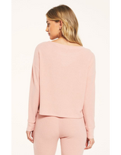 Load image into Gallery viewer, Leila Rib Long Sleeve- Rosy Pink