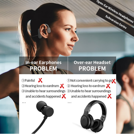 Headphone Surround Sound Earphones Stereo HD For Running cycling Bluetooth 5.0