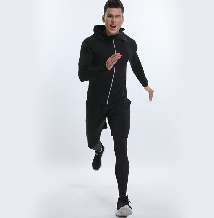 Sport Running Suit For Men Compression 5 Pcs