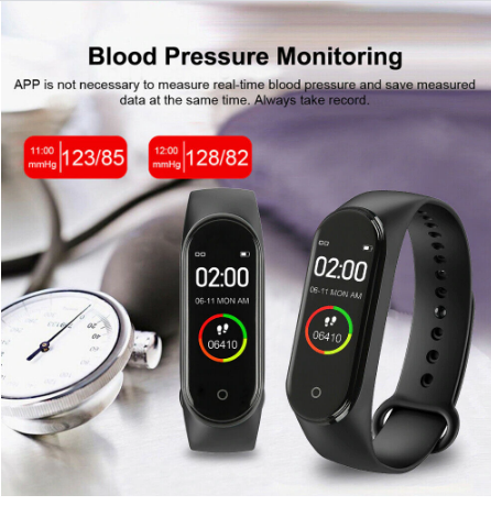 New Smart Watch High Quality Sports Blood Pressure Heart Waterproof Fitness M4 Men And Women