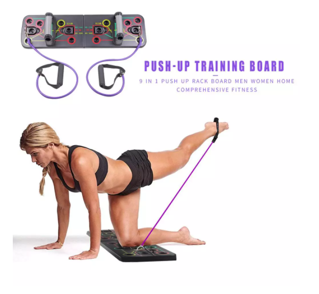 Fitness Club Gym-Equipment Push Up Rack Board Men Women 9 in 1