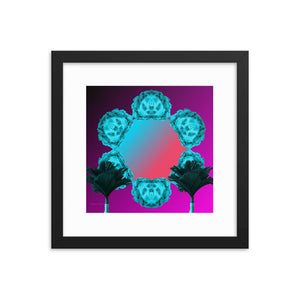 Roman Mirrors 3 (with frame)-Framed Print-Popquiz Gods