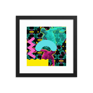 Hermes Wins Gold 2 (with Frame)-Framed Print-Popquiz Gods