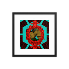 Load image into Gallery viewer, Warrior in the Library 1 (with frame)-Framed Print-Popquiz Gods