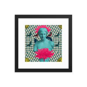 Athena in the Park (with Frame)-Framed Print-Popquiz Gods
