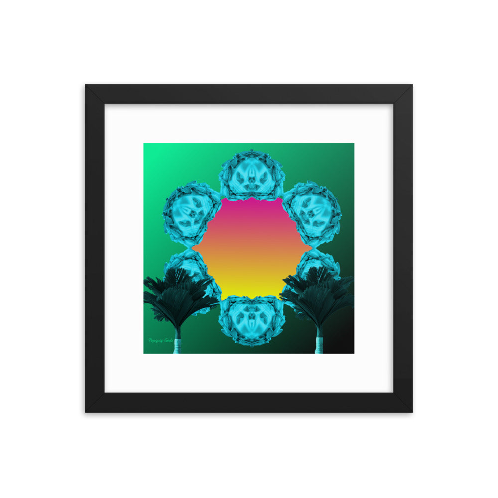 Roman Mirrors 2 (with frame)-Framed Print-Popquiz Gods