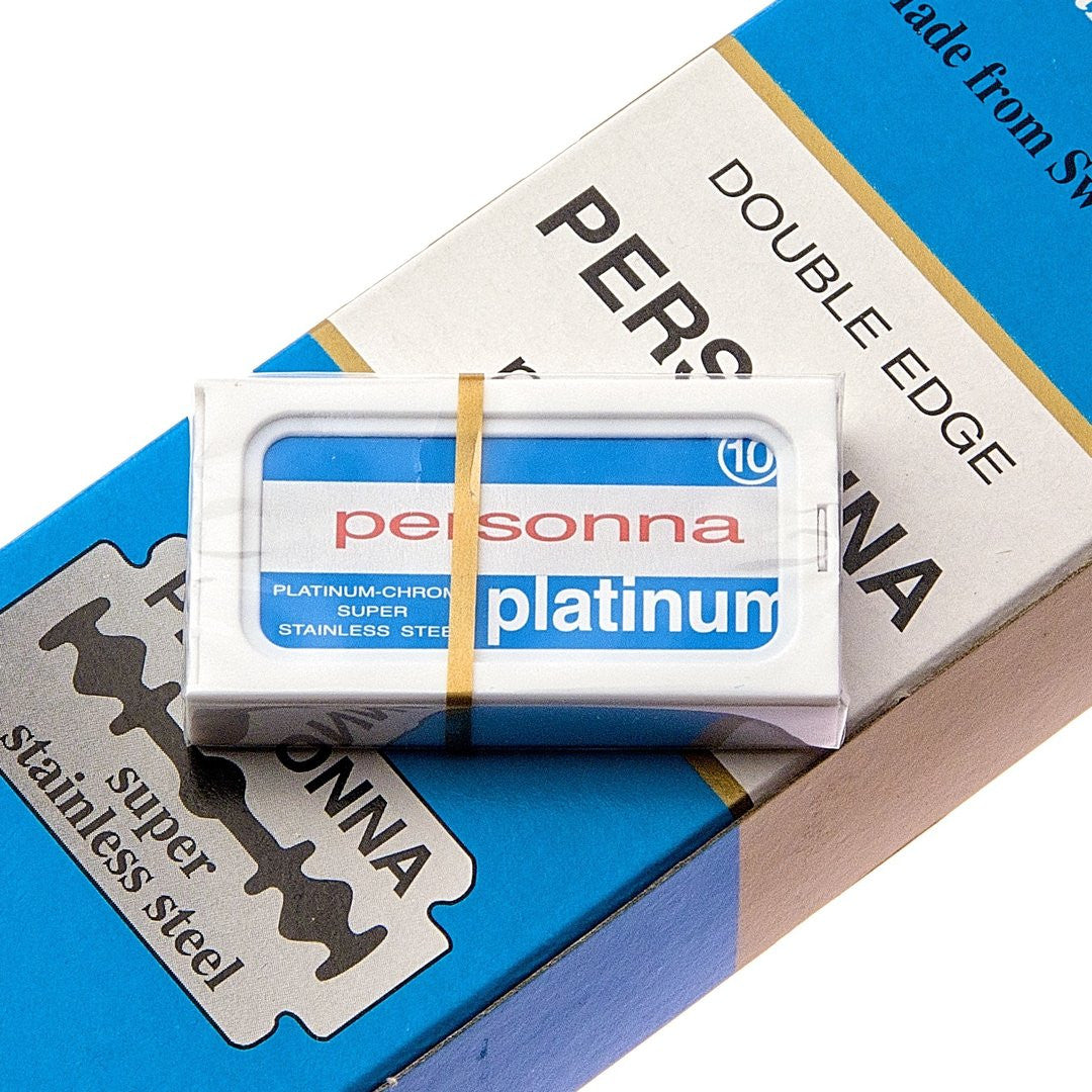 Personna  Platinum Double Edge Blades For Safety Shaving Razor