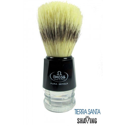 Omega 10019 Boar Bristle Shaving Brush Banded