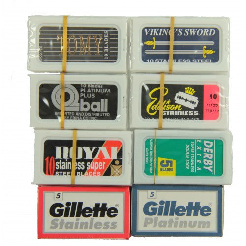 65 Double Edge Blades Sample Pack For Safety Razor