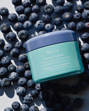 Nuria Hydrate Revitalizing Jelly Night Treatment - jar resting on bilberries
