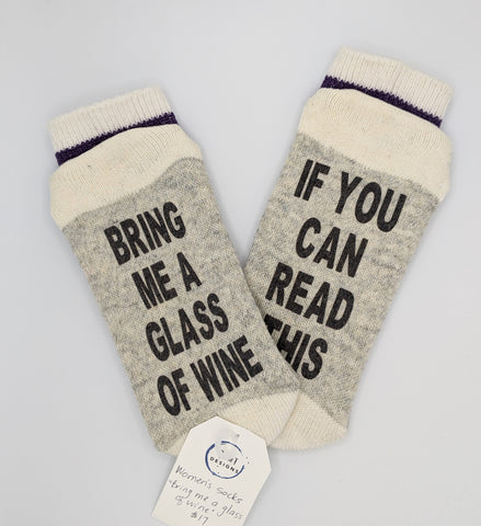 Bring me a glass of wine - socks