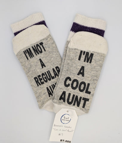 I am a cool Aunt - Socks